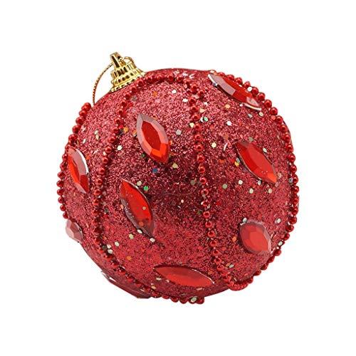 Alwayswin LED Weihnachtskugel Weihnachtskugeln Weihnachtsrhinestone Glitter Flitter Kugel Weihnachtsbaum Verzierungs Dekoration Christbaumkugeln Weihnachten Hängende Lichter -