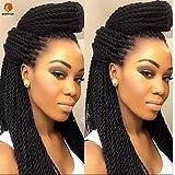 30 Strands!! small twists Black Senegalese Twist Braid for Crochet. Extensiones de cabello. Trenza. Abultar. giro
