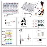 Sanzo® ELECTRONICS Starter Kit para Arduino Breadboard Jumper Wire, foto Resistencia Resistencia de, botón Zumbador Batería Cable