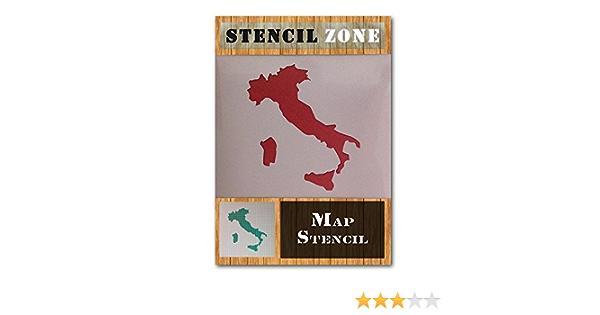 Italien Karte Italia Italienisch Land Mylar Airbrush Malerei Wand-Kunst-Handwerk-Schablone A1 Gr/ö/ße Stencil - Xlarge