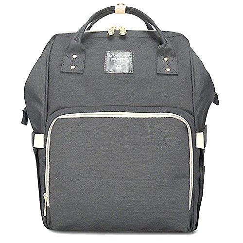 Baby Wickeltasche Rucksack, WeTong Multifunktions Baby Windel Taschen Reise Rucksack Organisator für Babypflege, große Kapazität, Stilvoll und langlebig (Grau) (Unisex-baby-windel-tasche)