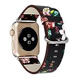 Kaiki für Apple Watch Armband,Lederband Ersatz Uhrenarmband für Apple Watch (38mm, E)