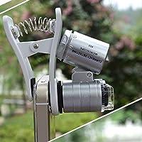 XIZHES moda creativa de alta calidad 60 veces microscopio del teléfono móvil y pantalla lupa /