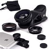 Bestdeal® 3 in 1 Handy Kamera Objektiv Kit: Macro + Fischaugen + Weitwinkelobjektiv Für Google Pixel - Schwarz