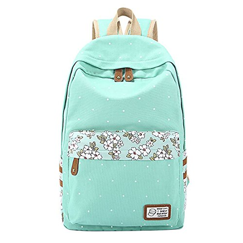 backpack-itechor-lightweight-casual-canvas-daypack-polka-dot-backpack-14-15-laptop-pc-school-bag-for