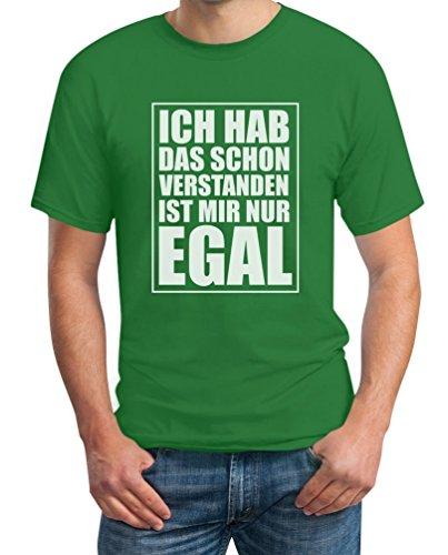 Habe das schon verstanden Ist mir nur EGAL Frecher Spruch T-Shirt Grün