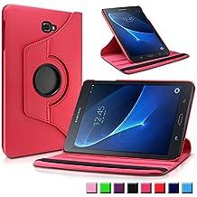 Samsung Galaxy Tab A 10.1 Custodia Case, Infiland Slim girevole in pelle Smart Ultra sottile e leggera 360 Degree Case Cover Custodia per Samsung Galaxy Tab A 10.1 pollici (2016) Tablet-PC(con Auto Sonno/Veglia Funzione)(Rosso)