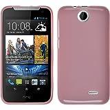 PhoneNatic Case kompatibel mit HTC Desire 310 - rosa Silikon Hülle Candy + 2 Schutzfolien