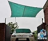 Hippo 2in1 Waterproof Rain Outdoor Shade Sail - Green Color - 1 Nos