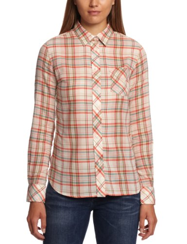 Levi's Damen Bluse Regular Fit Tailored 1 Pocket Shirt 50830 (0004) (0005), Gr. 34 (XS), Orange (Jurassic Plaid Cloud 0005)