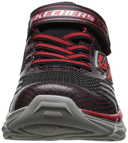 Skechers Rive, Sneakers Basses garçon Noir (Noir/Rouge)