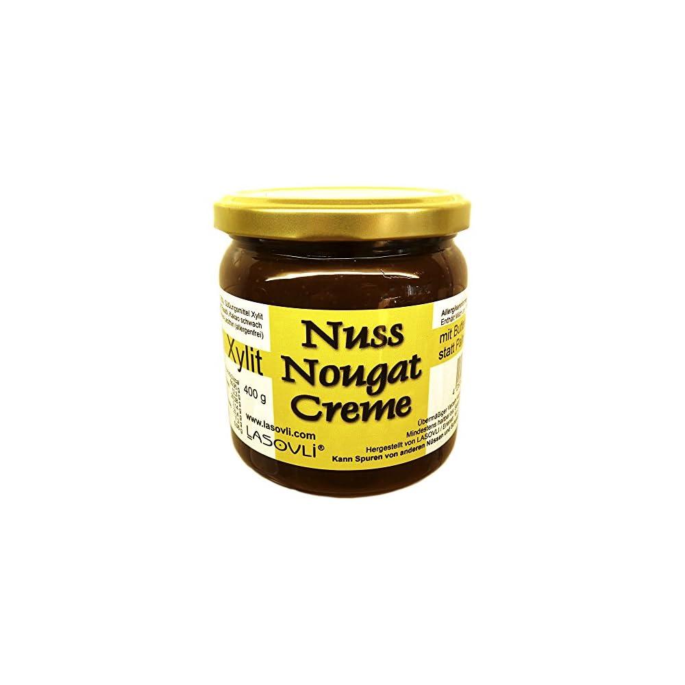 Butter Haselnuss Nuss Nougat Creme Mit Xylit Gest 400 G Ohne Palmfett Ohne Zuckerzusatz 437 Haselnsse