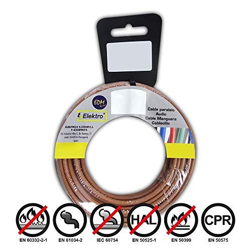 Angelrolle cablecillo flexibel 4mm Marron 20mts. libre-halogeno