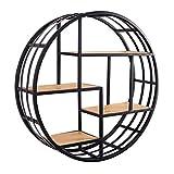 Zheng Hui Shop Multifunktions-Rundregal Wohnzimmer Wand Regale Schlafzimmer Massivholz-Display-Ständer, schwarz