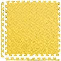 WZG 4 PC Puzzle Mousse Tapis Rampants Tapis Pour Augmenter Les Tapis De Fitness Des Enfants Chambre Salon Tapis De Sol 60 * 60 * 2.5 Cm,Yellow
