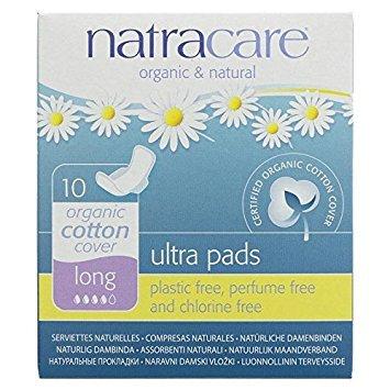 Compresas algodón alas 3 paquetes marca Natracare