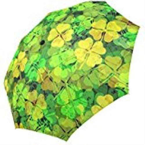 YSA Lucky Clover Faltbarer Regenschirm Anti Regenschirm 3 Faltbarer Sonnenschirm Sonnenschutz Anti-UV-Regenschirm für Frauen -