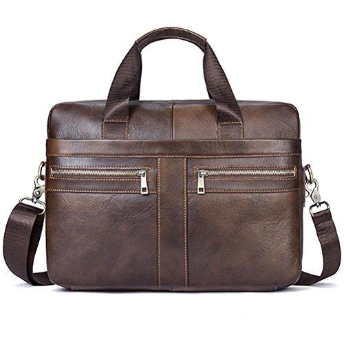 Business Men Aktentaschen 100% Echtes Leder Handtaschen Kuh große Messenger Bags Laptop mit Griff (Kipling Laptop-messenger Bag)