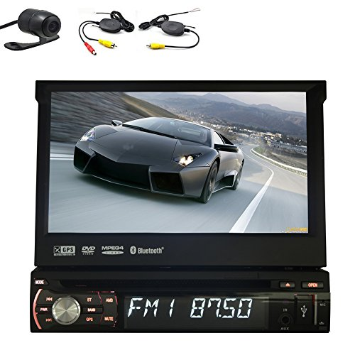Autoradio GPS Navigator In Deck Single 1 DIN-Monitor RDS Universal-1DIN Audio BT Musik Autoradio Video Autoradio-Auto-DVD-Player iPod Logo Wireless Rear-Kamera