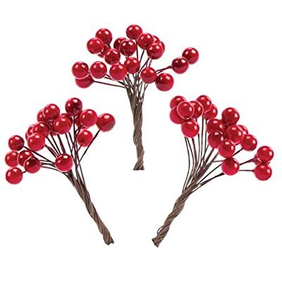 Artificial Red Berries For Garlands /Wreaths and all Christmas Projects (Pack of 100)
