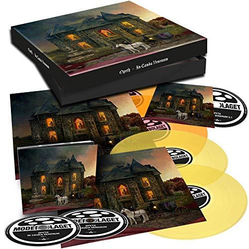 In Cauda Venenum BOX incl. 2CD-DIGI, 2LP (transparent yellow / transparent orange) in gatefold + 5.1 Audio BR- lyric sheets