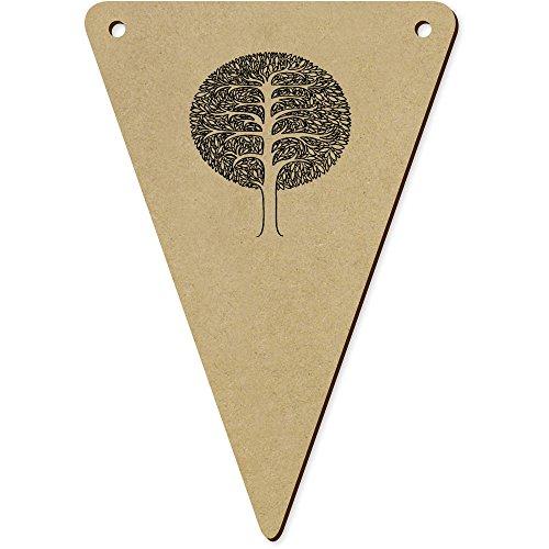 5 x 140mm 'Arbre Rond' Fanions Triangles en Bois (BN00018911)