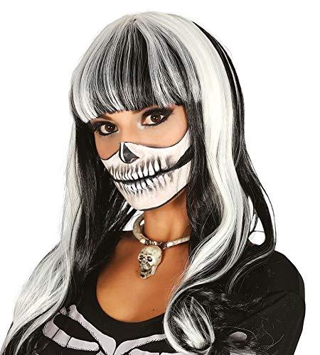Guirca Halloween Hexen Perücke Schwarze Mähne mit