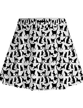 Falda para Mujeres - Rcool - Una Línea de Falda Negro Con Las Correas De Hombro Plisado Vestido