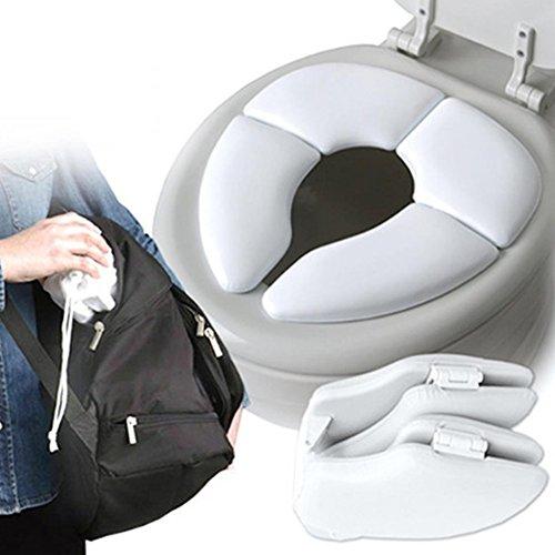 Per pieghevole da viaggio per copriwater bianco portable potty training sedile per bambini bimbi neonati