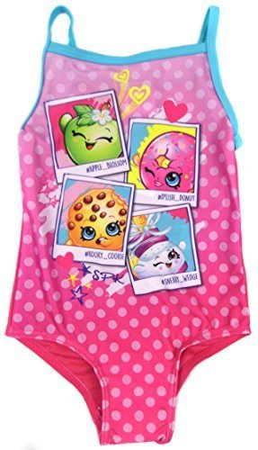 e645bfc949 Girls Character Swimsuit Choose From Paw Patrol Shopkins and My Little Pony  (3-4 Years, Shopkins)