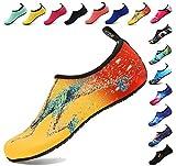 BOLOG Junge Aqua Schuhe Kinder Badeschuhe Schwimmschuhe Barefoot Schuhe Wasserschuhe Surfschuhe Sportschuhe Strandschuhe Schnorcheln Barfuß Schuhe für Mädchen Damen Sommer