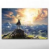 zzlfn3lv Affiche et Gravure Jeu vidéo Zeldas légende Papier Peint Toile Mur Art Peinture Salon décoration - sans Cadre