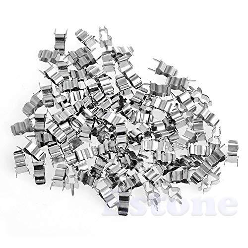 Celan Qualitäts-100 x Sicherungshalter-Clips 5 x 20 mm Glas Quick Fast Blow Fuses Welding Holder Blow Fuse