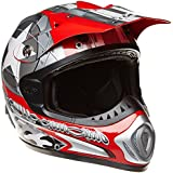 Römer 130146 Casque Moto Cross/MX Starcross, Rouge/Argent, XXL