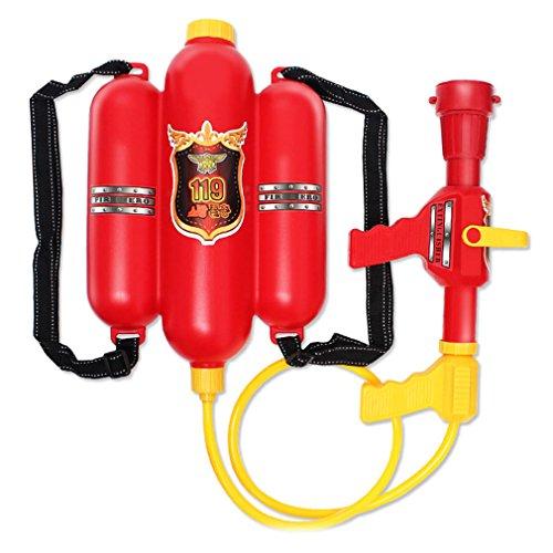 Brigamo 468 - ⚙ Feuerwehr Wasserpistole mit (Comic Kostüme Halloween Figuren)