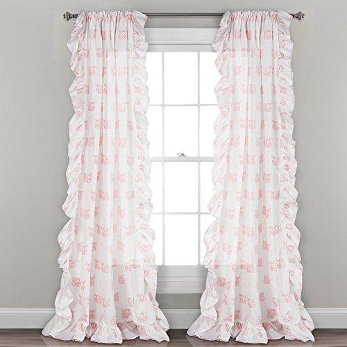 Lush Decor Fenstervorhang, 213 x 101,6 cm, Rosa, 1 Paar