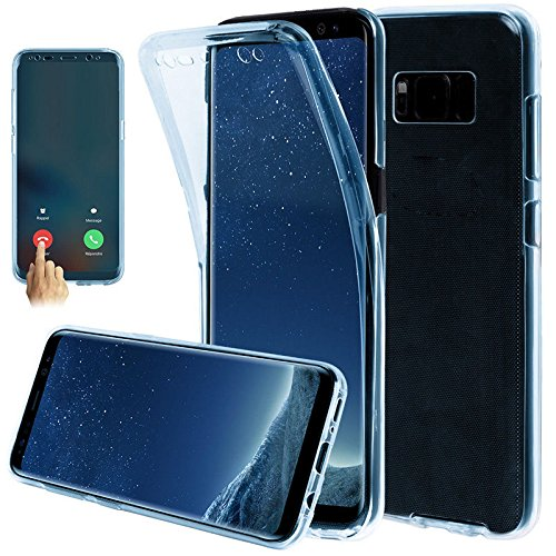 Xelcoy® 360 Degree Soft Silicone Full Body Protection Front & Back Slim Hybrid Case Cover Protector for Samsung Galaxy S8 Plus- Blue