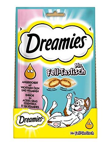 katzeninfo24.de Dreamies Katzensnacks/Klassiker Plus Mr. Felltastisch, 6 Beutel (6 x 55 g)