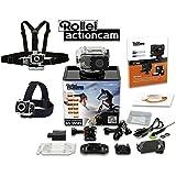 Rollei® Kamera Sport Actioncam 6S WiFi Wasserdicht 16Megapixel (Hersteller AEE, PNJ) Pack Premium Mini Helmkamera HD–Set mit Zubehör und Befestigung