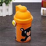 Youzhishui 500 ml Kinder Cartoon Stroh wasserflasche für Baby Kinder tragbare auslaufsicher Trinken Outdoor Sport Reise Flasc
