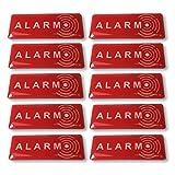 Aufkleber Abschrecken Alarm–Qualität Außen (Regen, UV,...)–49 x 19 mm - 10 Stück
