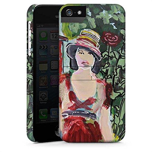 Apple iPhone X Silikon Hülle Case Schutzhülle Frau Blumen Zeichnung Premium Case StandUp