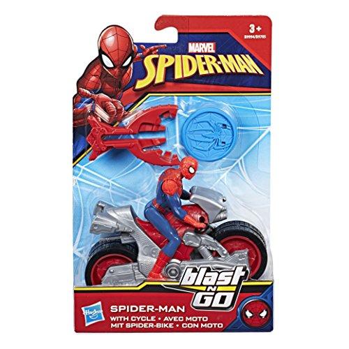 Hasbro Francia b9705eu40-Vehículo Blast N Go + Figura-Spiderman