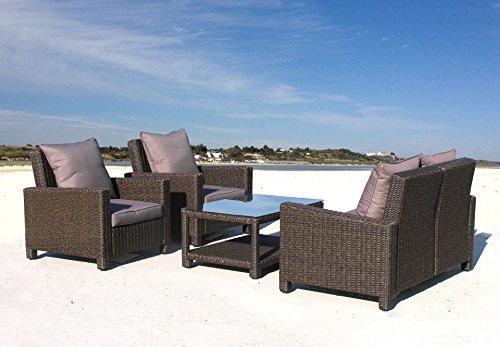 Lounge Set Lanzarote Ibiza 12 tlg verstellbar