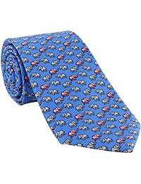 Blue Elephant Silk Tie