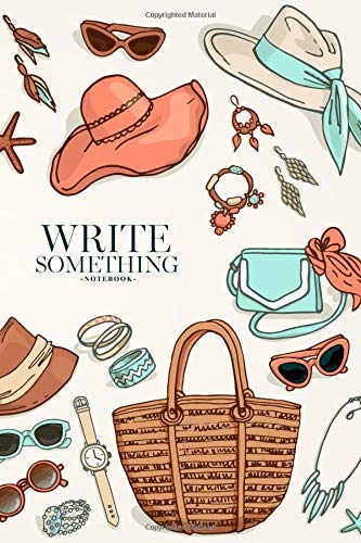 Notebook - Write something: Woman accessories notebook, Daily Journal, Composition Book Journal, College Ruled Paper, 6 x 9 inches (100sheets) - Womens Hawaiian-t-shirt