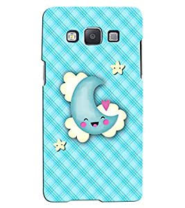 Citydreamz Moon & Stars Hard Polycarbonate Designer Back Case Cover For Samsung Galaxy A7