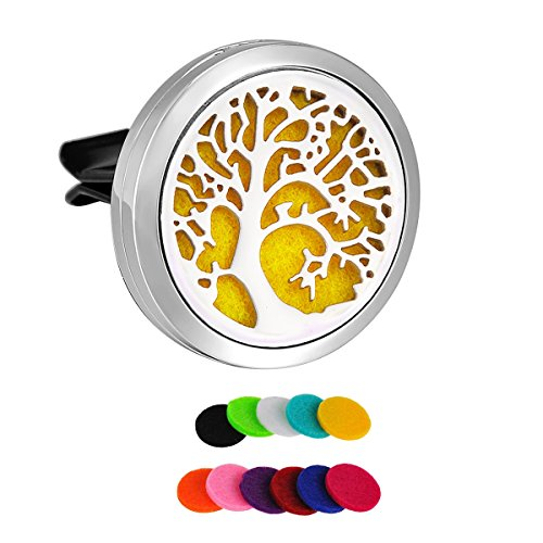 hooami-car-air-freshener-aromatherapy-essential-oil-diffuser-vent-clip-stainless-steel-tree-of-life-