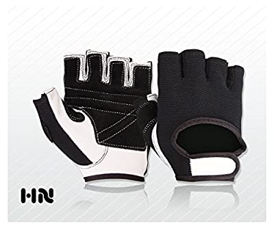 Fitness Training Leather Gloves (044) Weight lifting Gym Cycling All Sports by Kango Fitness