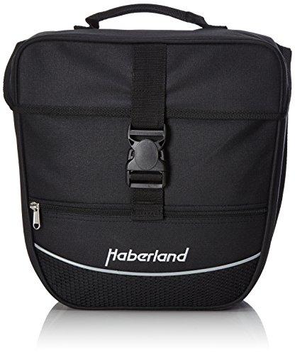 Haberland Unisex- Erwachsene Fahrradtasche Einzeltasche Einsteiger-Serie, schwarz, 12.5 L